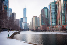 Chicago Downtown Residential District By The River