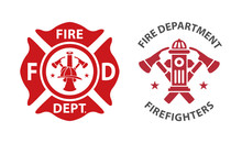 Fire Department Logos, Set Of ...