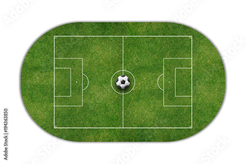 Photo  Football Stadium field top view isolated on white background