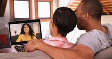 A Black Couple Has A Video Cal...