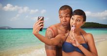 A Black Couple Embrace Each Ot...