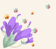 background for design with spring flowers