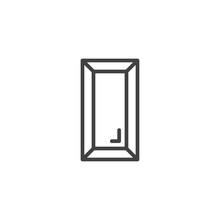 Gold Ingot Outline Icon. Linea...