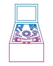 Retro Arcade Screen Pinball Ga...