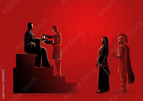 Fotografering Pilate Condemns Jesus to Die