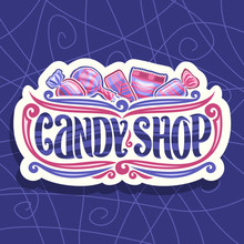 Vector Logo For Candy Shop, On...