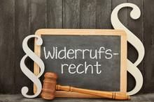 Widerrufsrecht Von Online Kaufvertrag Konzept