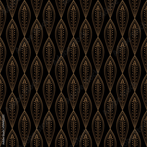 luxury background vector peacock feathers royal pattern seamless gold black design for yoga wallpaper