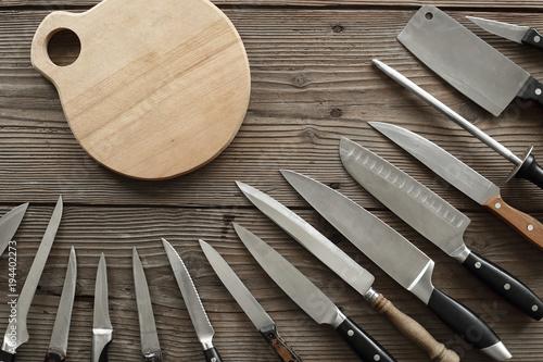 various kitchen knives