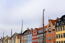 Colorful Buildings In Copenhag...