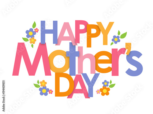 HAPPY MOTHERS DAY Banner With Flowers