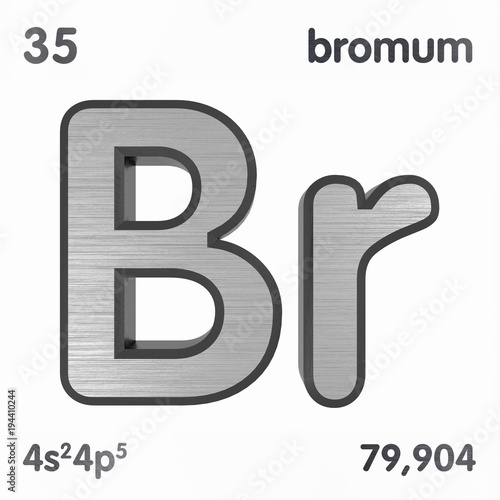 Bromine Br Or Bromium Chemical Element Sign Of Periodic Table Of