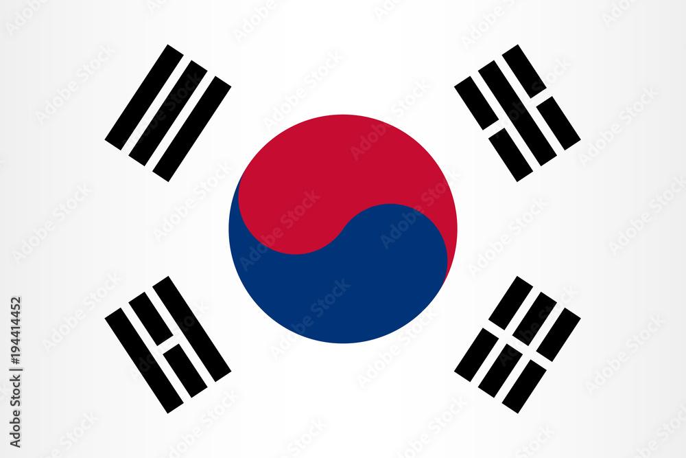 Fototapeta Vector South Korean flag background