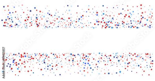 Usa Uk Australia State Symbols And Flag Coloured Star Confetti