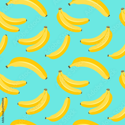 Obraz na plátně banana seamless pattern.vector illustration