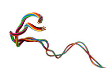 Coloured Electrical Wires Isol...