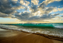 Waves Crash Sunset Maui