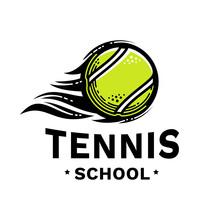 Tennis School Emblem, Illustra...