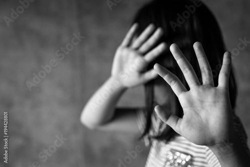 Fotografía Stop abusing violence,human trafficking concept