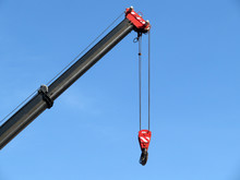 Heavy Crane With Lifting Hook