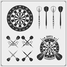 Set Of Darts Club Or Sport Com...