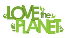 LOVE THE PLANET Typography Pos...
