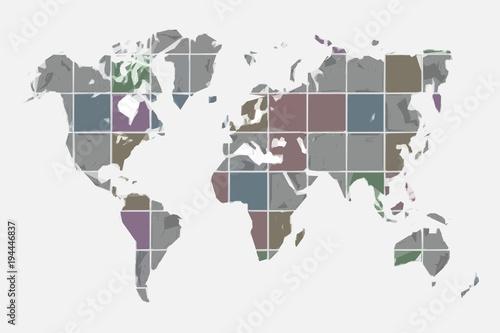 World map design. Vector illustration