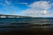 Mackinac Bridge In Upper Penin...