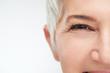 canvas print picture - Close up of senir woman eye.