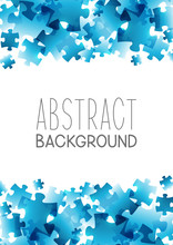 Abstract Background With Blue Puzzle Elements