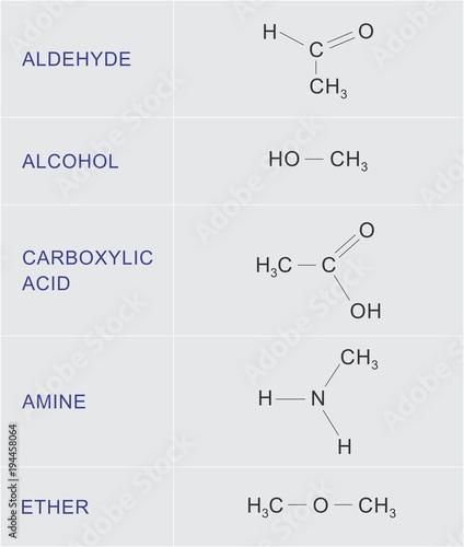 Organic chemical functions Wallpaper Mural