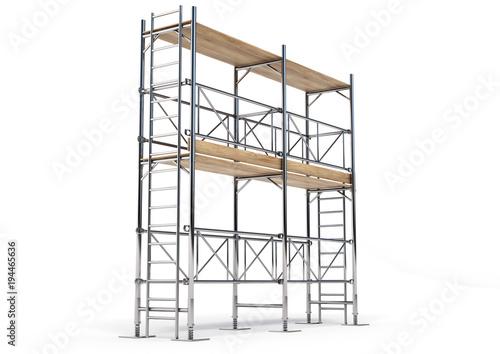 Fototapeta A scaffold illustration made in 3D software.