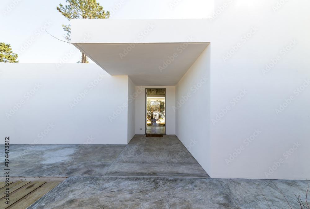 Fototapeta Modern house entrance