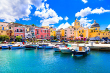Beautiful Colorful Island Procida. Campania, Italy