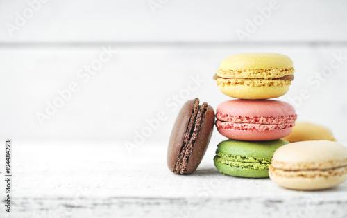 Staande foto Macarons Frische Macarons