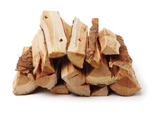 Firewood On White Background
