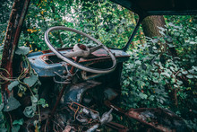 Interior Of Wreck Car
