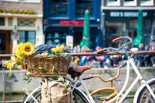 Fototapeta Amsterdam uliczka-w-amsterdamie