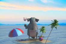 3D Illustration Of A Elephant ...