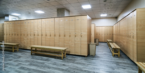 Fototapeta Interior of locker room in the gym