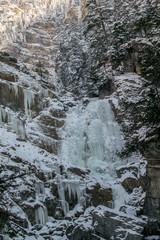Fototapeta na wymiar Kuhflucht in Farchant oberster Wasserfall.