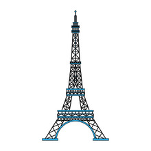Eiffel Tower Symbol Vector Ill...