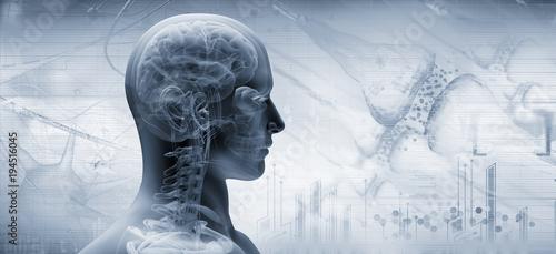 brain, thinking concept Wallpaper Mural