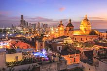 Night View Of Cartagena De Ind...