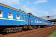 Passenger train on railway