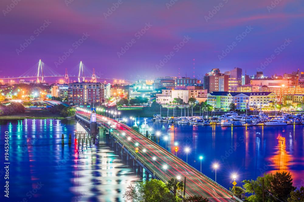 Fototapety, obrazy: Charleston, South Carolina, USA Skyline