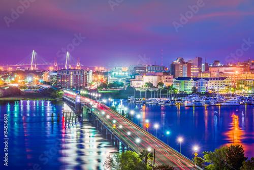 Fényképezés  Charleston, South Carolina, USA Skyline
