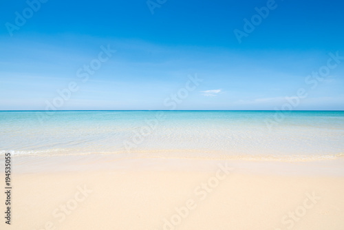Foto op Canvas Strand Sea view tropical beach with sunny sky of Phuket island.