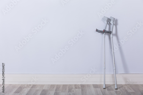 Photo Two Crutches In Room