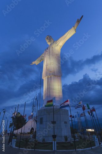 The Statue of Christ the King (Cristo del Rey) in Santiago de Cali, Valle de Cau Wallpaper Mural